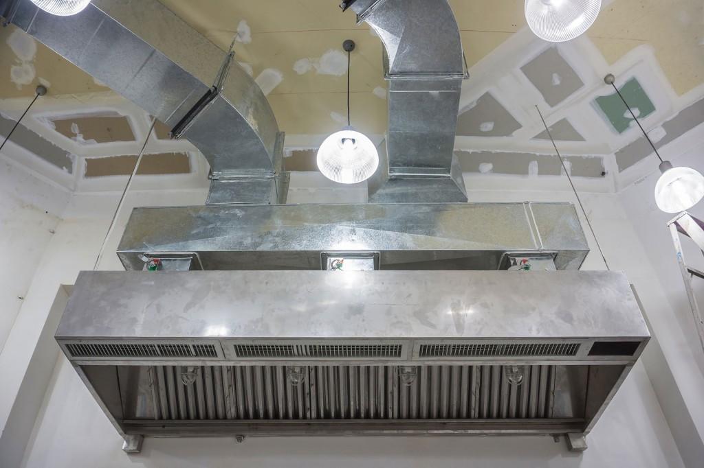 The restaurant ventilation system.;